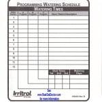 Irritrol Rain Dial Sprinkler Controller Programming Guide - template